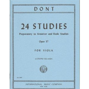 Dont Jakob 24 Studies Op 37: Preparatory to Kreutzer and Rode Studies Viola solo by Joseph Vieland